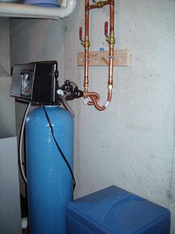 install water softener loop